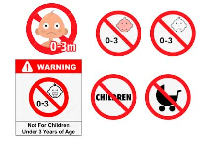 Предупреждающие знаки минимального возраста детей